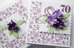 Kartka URODZINOWA z fioletowymi kwiatami
