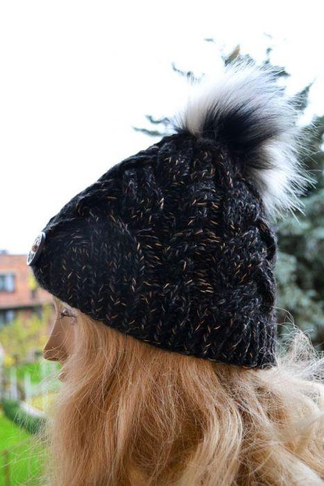 Ciepła czapka melanżowa