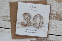 Rustykalna kartka urodzinowa na 30,40,50