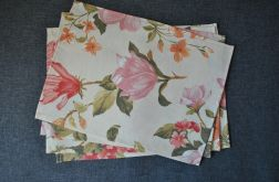 4 podkładki pod talerze - pastelowe magnolie