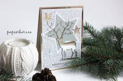 Jeleń - kartka świąteczna