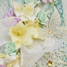 Kartka ślubna z motylkiem