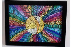 Zentangle SŁOŃCE rysunek obraz obrazek