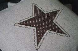 Poszewka z beżowego filcu - gwiazdka