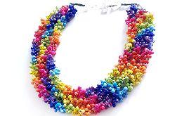 5027 tęczowy kolorowy naszyjnik kolia