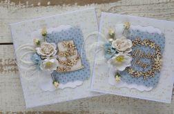 Kwiatowa kartka ślubna z pudełkiem A2