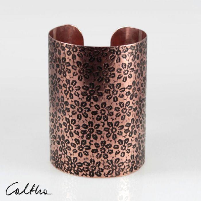 Kwiatuszki - miedziana bransoleta 210412-01