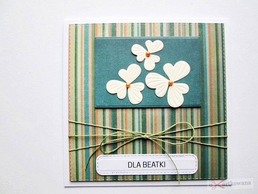 Kartka UNIWERSALNA kremowe kwiatki - Kartka UNIWERSALNA kremowe kwiatki