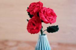 Bukiet róż z filcu (czerwony)