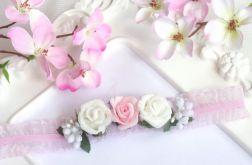Nomma Opaska niemowlęca CHRZEST kwiatki 001