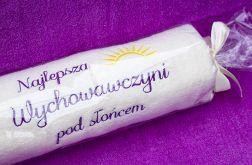 Dzień Nauczyciela, ręcznik z dedykacją.