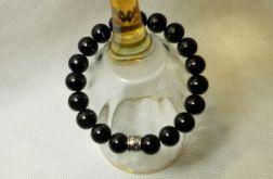 43. Bransoleta z pereł szklanych 10mm