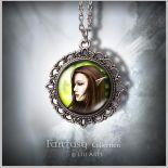 Medalion Elf - Elves - zdobiony