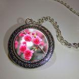 Wisiorek Różowa Wiosna