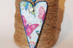 Breloczek/ zawieszka serce w motylki