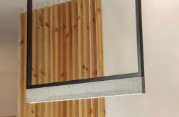 Lampa betonowa Framed Steel 100cm 12v