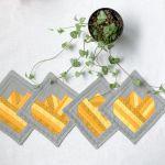 Żółte tulipany - podkładki pod kubki - żółte_tulipany_podkładki2