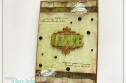 Kartka na Ślub z napisem LOVE 6