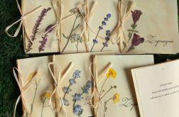 Zaproszenia ślubne suszone kwiaty