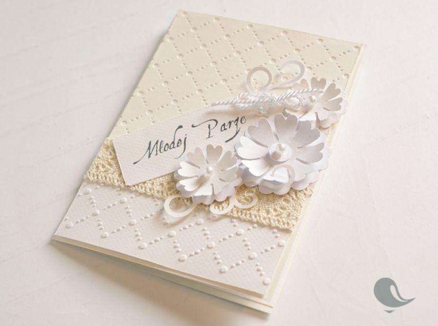 Kartka dla Młodej Pary w bieli