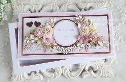 Ślubna kartka w pudełku 475