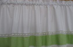 *zielona kratka* Lambrekin 250x50 - wz1