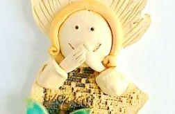 Aniołek ceramiczny wiszący
