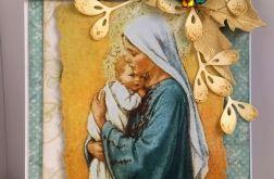 Tradycyjna kartka z Maryją i Dzieciątkiem