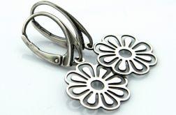 Kolczyki srebrne kwiaty
