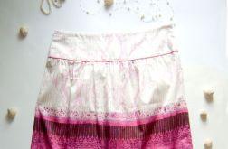 rozmiar 42-Spódnica biało-różowa