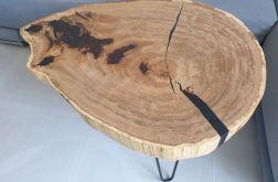 Stolik plaster drewna dąb + żywica