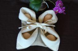 Lniany koszyczek na jajka/pisanki
