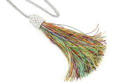 Długi naszyjnik z chwostem kolorowy
