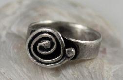 Ślimak - srebrny pierścionek