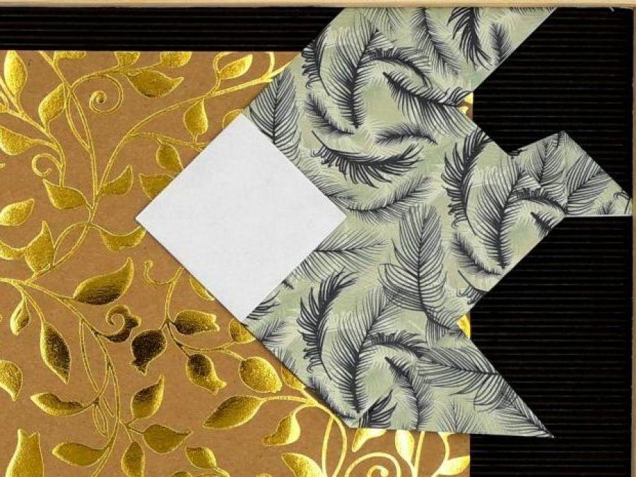 Obrazek origami w ramce do powieszenia Ryby - Zbliżenie2