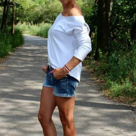 Bluza oversize, asmymetryczna