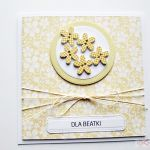 Kartka UNIWERSALNA żółto-białe kwiatki - Kartka Uniwersalna żółto-białe kwiatki