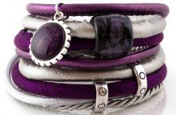 Bransoletka z rzemieni Violet Ceramic