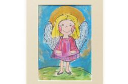 Aniołek obrazek malowany, obraz z aniołkiem