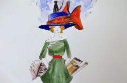 """""""Kobietą być"""" akwarela artystki A. Laube"""