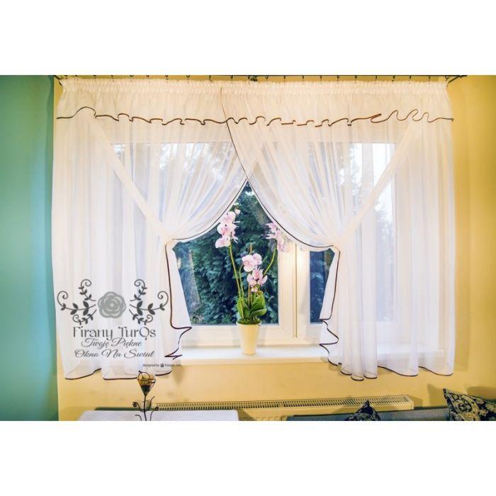 Firana Elizabeth do salonu z woalu 400x150cm