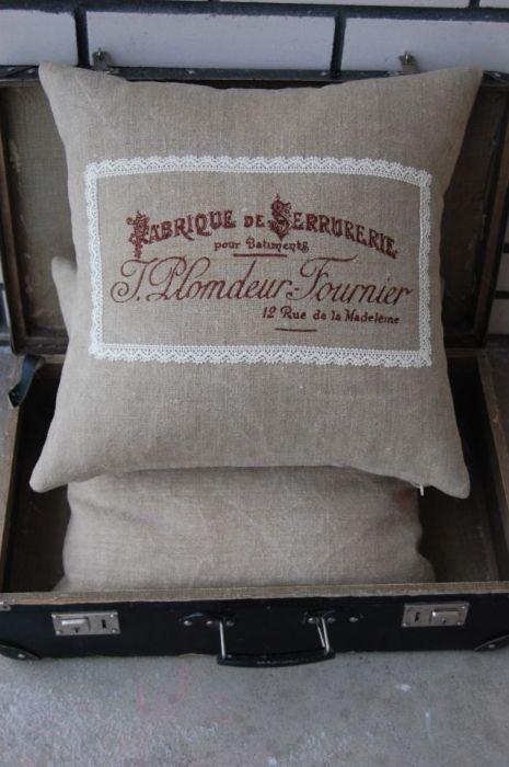 "Poduszki w stylu vintage ""Fabrique de Serrurerie"""