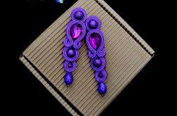 Długie fioletowe kolczyki sutasz