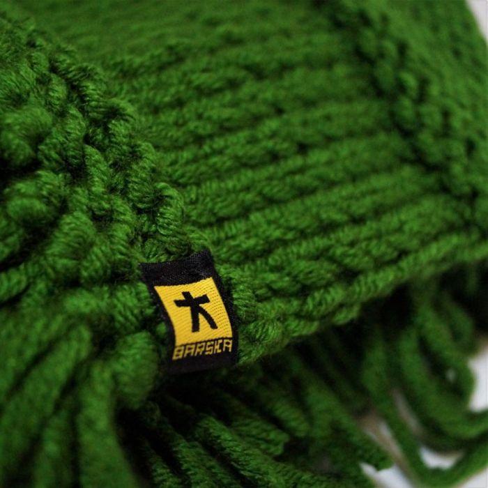 szal z frędzlami zielony