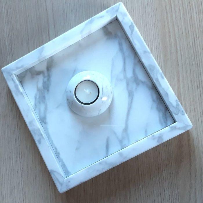 Taca marmurowa Bianco Carrara -