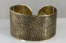 Mosiężna bransoleta - piasek