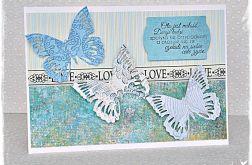 Ślubne motyle - kartka dla Młodej Pary