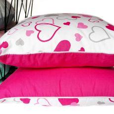 Komplet 2 poduszek ~ różowe serduszka