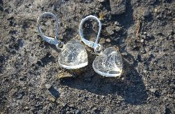 Zatopki kolczyki serce dmuchawce
