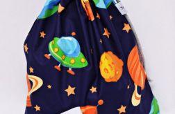 Worek szkolny worek na buty na kapcie kosmos